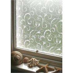 Window Cling Self-Adhesive Film ~ Frosted Privacy Flower Scroll ~ HERE IS WHAT I'M PLANNING FOR COVERING THE LARGE WINDOWS IN THAT ROOM!! THIS DESIGN is my favorite of almost 300 out there. Most are too plain or WAY to MODERN or BUSY. It is easy to apply & completely REMOVEABLE and REUSEABLE!!! Plus it will filter the light coming into the room & hide the less-than-impressive view out the windows. If this reception was at night, I wouldn't bother, but it HAS to be in the daytime - IN THE…