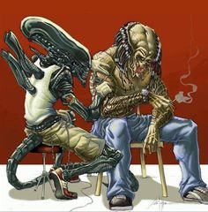 Alien Tattoo Predator by ChrisOzFulton on DeviantArt Alien Vs Predator, Predator Movie, Predator Alien, Predator Cosplay, Arte Horror, Horror Art, Predator Tattoo, Art Alien, Giger Alien