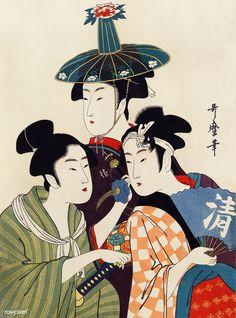 - Classic japanese vintage ukiyo-e trio lady geisha art Case-Mate Tough Xtreme iPhone 5 Case Japanese Artwork, Japanese Poster, Japanese Painting, Japanese Prints, Geisha Kunst, Art Geisha, Japan Illustration, Japanese Geisha, Vintage Japanese