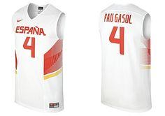 Camiseta Nike España 2014 blanca. Pau Gasol www.basketspirit.com/camisetas-NBA-NCAA-pantalones/Camiseta-Baloncesto