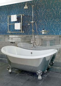 Victorian Bathroom Traditional Roll Top Bathtub Shower Bath Glass Screen