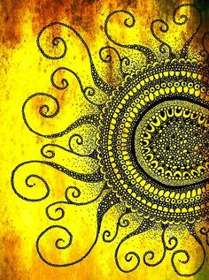 SUN - Amber waves of Spiral Journey. :> Forever beckoning, but when we come too close, the fire burns all else away, leaving only our Heart's Passion & our Deepest Need. :>