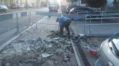 Montesilvano marciapiede Corso Umberto: oggi la ripresa dei lavori