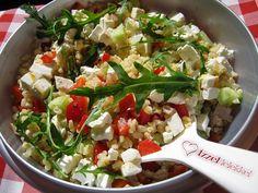 Ízzel-lélekkel készült receptek: Könnyű bulgursaláta Cobb Salad, Potato Salad, Potatoes, Ethnic Recipes, Food, Diet, Lettuce Recipes, Bulgur, Red Peppers