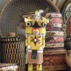 Hopi Star Hote Katsina/Kachina Yellow Signed Native American Southwest