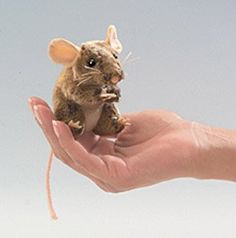 Mini Field Mouse Finger Puppet at theBIGzoo.com, a toy store featuring 3,000+ stuffed animals.