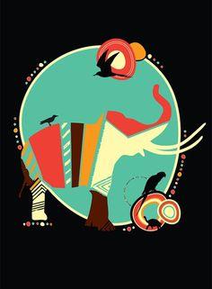 elephant / african illustration