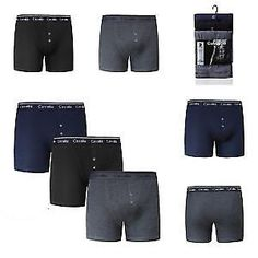 PACK OF 3 Mens Boxer Shorts Cotton Cavailia Hipster Matching or Red Elastic 2XL