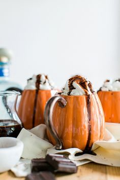 Spiked Mexican Hot Chocolate for Halloween | Waiting on Martha