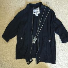 Wet Seal Black Jacket Wet Seal Black Jacket size Medium. Barely worn. Full zip with buttoned pockets. Wet Seal Jackets & Coats