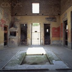 House of Menander, Pompeii. The pool is shallow.  http://www.corbisimages.com/stock-photo/rights-managed/MI001177/atrium-of-the-house-of-the-menander