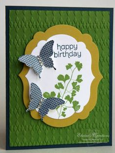 Papillon Potpourri Birthday Card