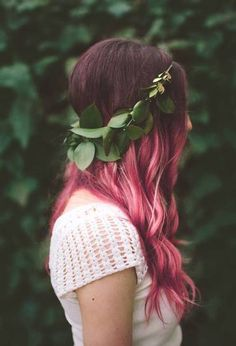 Pink hair I WANT IT NOW.I could do this my hair is brown and pink would look so so cute