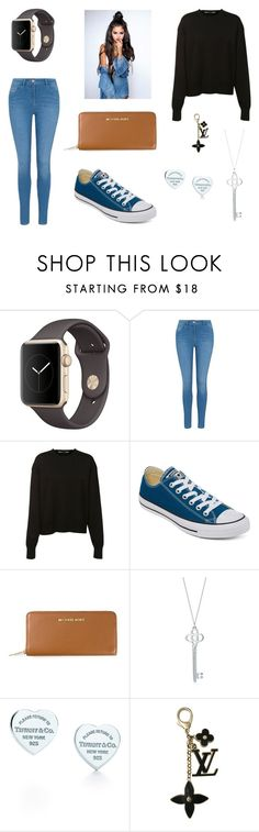 """""""Hey,Selena!"""" by hannasha222-2 ❤ liked on Polyvore featuring George, Givenchy, Converse, MICHAEL Michael Kors, Tiffany & Co. and Louis Vuitton"""