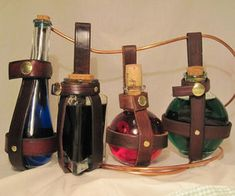 Leather Potion Bottle Holder