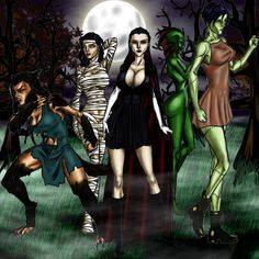 Female Monster Squad  by ~Tzimisce8 on Deviant Art.