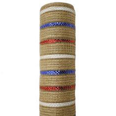 10 Patriotic Jute Deco Mesh Red White Blue by CustomWreathDecor Deco Mesh Ribbon, Patriotic Wreath, Rustic Wood Signs, Red White Blue, Blue Stripes, Jute, Burlap, Etsy Seller, Yards