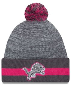 New Era Detroit Lions Breast Cancer Awareness Sport Knit Hat Men - Sports  Fan Shop By Lids - Macy s 514fb0e57438