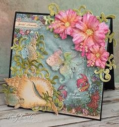 It's Heartfelt Wednesday! Here is my card for this week with the Under the Sea collection! I've never been lucky enough to go Scuba diving so my imagination is the closest I can get to it using this c