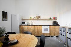 Home - Quartier Studio Linz Studio, Plywood, Corner Desk, Conference Room, Kitchen, Table, Design, Furniture, Home Decor