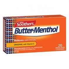 Butter-Menthol medicated lozenges combine mild menthol to actively relieve mild sore throats and stuffy noses, with a great distinctive taste Australians know and love. Also with the added goodness of Vitamin C. Manuka Honey Sore Throat, Sore Throat Medicine, Sore Throat Relief, Sore Throat And Cough, Throat Pain, Throat Lozenge, Cold Symptoms