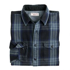 J.Crew - Wallace & Barnes flannel shirt in smoky haze plaid