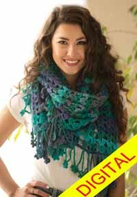 Floral Impressions #Wrap Digital #Crochet Pattern from Love of Crochet magazine, Spring 2015