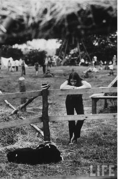 Photo of a Woodstock attendee by John Dominis, 1969.