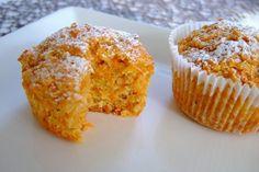 Muffins de manzana y zanahoria y coco - Kuchen Rezepte - Muffin Recipes, Raw Food Recipes, Dessert Recipes, Desserts, Healthy Drinks For Kids, Coconut Muffins, Healthy Muffins, Homemade Soup, Macaron