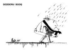 Caricatura de DEZIDERIU BODIS, publicata in almanahul PERPETUUM COMIC '97 editat de URZICA, revista de satira si umor din Romania