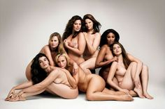 Glamour's nude plus size models