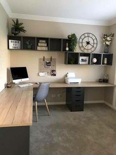 That desk design. That desk design. Related posts: That desk design. Best Two Person Desk Design Ideas for Your Home Office Workspace 21 Awesome DIY Desk Organizers, die das Beste aus Ihrem Büro machen …. Mesa Home Office, Home Office Space, Home Office Desks, Office Room Ideas, Diy Office Desk, Diy Desk, Basement Office, Work Desk, Modern Office Decor