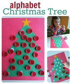 alphabet christmas tree alphabet for starters no time for flash cards