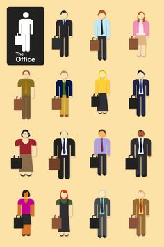 Michael, Jim, Pam, Dwight, Andy, Angela, Ryan, Phyllis, Kevin, Oscar, Stanley, Kelly, Meredith, Creed, and Toby. Best show ever!
