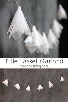 Learn how to make this sweet Tulle Tassel Garland, perfect for many special occasions!