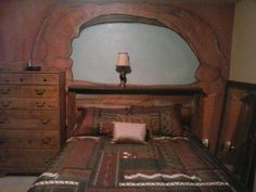 watch as i turn my bedroom into a scene from arches national park, architecture, bedroom ideas Rustic Furniture, Painted Furniture, Faux Rock, Arches, Cottage Style, Barn Wood, Home Projects, Wall Murals, Humpty Dumpty