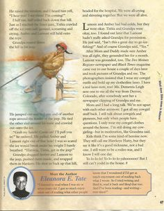 """American Girl Magazine - January 1993/February 1993 Issue - Page 48 (Part 8 of """"Hawkeye Hatty Rides Again"""" - A Story by Eleanora E. Tate)"""