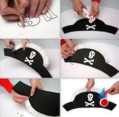 sombrero pirata casero