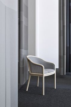 Scholten & Baijings upholsters Herman Miller seating in gridded fabric.