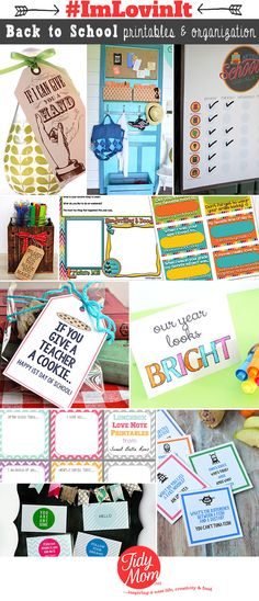 10 Back to School free printables and organization ideas that will save you!
