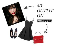 """black and red"" by albinanumanovic ❤ liked on Polyvore featuring Glamorous, IVI, Christian Dior and Henri Bendel"