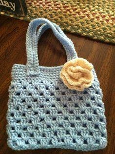 Little Girls crochet purse., via Etsy.