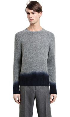 Chet dip grey melange is a dip dyed wool sweater #AcneStudios #menswear #FallWinter2014
