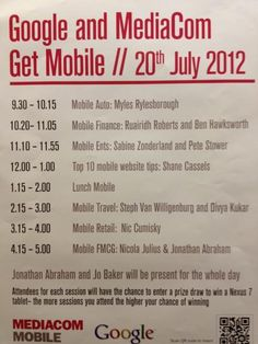 Stefan @ Mediacom Google Get Mobile Event - foursquare