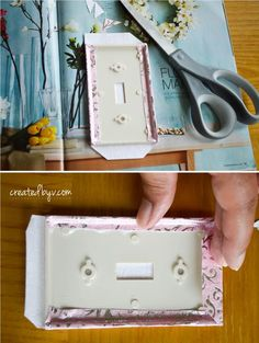 diy decorative switch plates outlet covers, crafts, decoupage