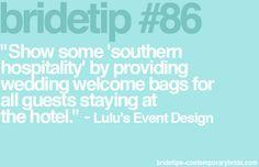 Bride Tip #86 / Lulu's Event Design / Contemporary Bride
