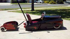 http://ventura.craigslist.org/bab/3733204167.html   Custom Pedal car hot rod stroller with trailer