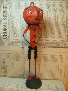 Chenille and paper mache Jackman by Crescent Hill Designs