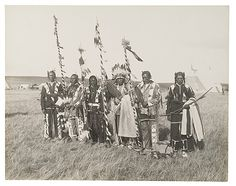 Members of the Brave Dogs Society - Blackfoot - 1910