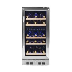 NewAir - 29-Bottle Wine Cooler - Stainless steel (Silver), AWR-290DB